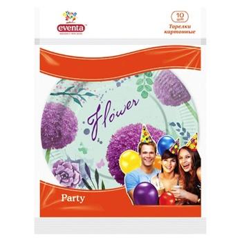 Бумажные тарелки с рисунком Eventa 10шт - купить, цены на Фуршет - фото 1