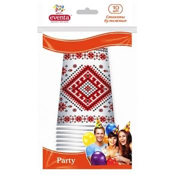 Стаканы бумажные Eventa Party 300мл 10шт - купить, цены на Novus - фото 1