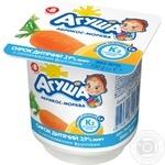 Сирок кисломолочний Агуша абрикос-морква для дітей з 8 місяців 3,9% 100г - купити, ціни на Фуршет - фото 1