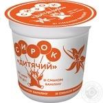 Творожок Слов'яночка Детский со вкусом ванилина 15% 120г - купить, цены на Novus - фото 1