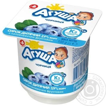 Сирок кисломолочний Агуша з чорницею для дітей з 6 місяців 3,9% 100г - купити, ціни на Novus - фото 3
