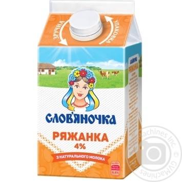 Ряжанка Слов'яночка 4% 450г - купити, ціни на Novus - фото 1