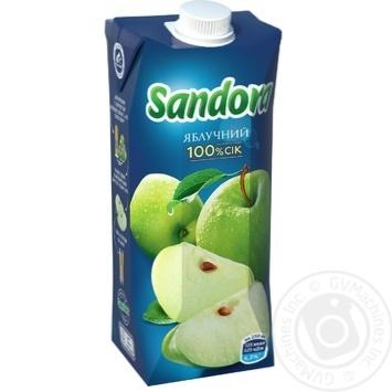 Сок Sandora яблочный 500мл - купить, цены на Фуршет - фото 1