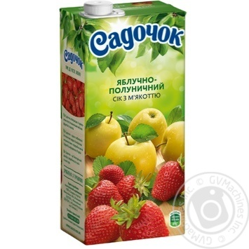 Сок Садочок яблочно-клубничный 0,95л - купить, цены на Novus - фото 1