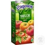 Сік Садочок Томатний зі свіжих томатів 0.95л - купити, ціни на Фуршет - фото 1