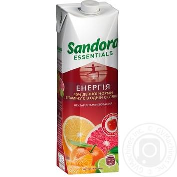 Нектар Sandora Essentials Энергия цитрусовый микс с екстрактом ацеролы 950мл - купить, цены на Novus - фото 1
