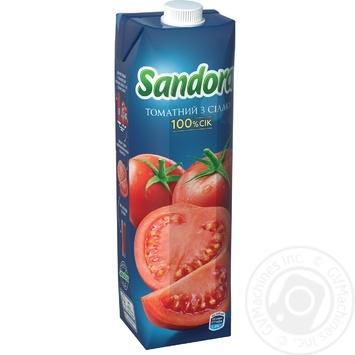 Сок Sandora томатный с солью 950мл - купить, цены на Novus - фото 1