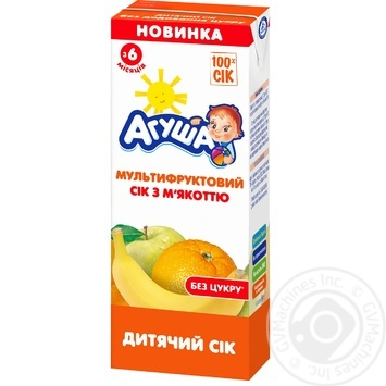 Agusha for children from 4 months multifruit juice 200ml - buy, prices for Furshet - image 1