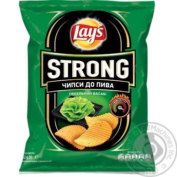 Чипсы Lay's Strong к пиву со вкусом васаби 62г - купить, цены на Novus - фото 1