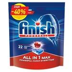 Таблетки для посудомийної машини Finish All in One Max 22шт