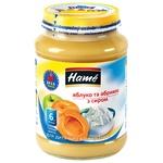 Пюре Hame яблуко та абрикос з сиром 190г