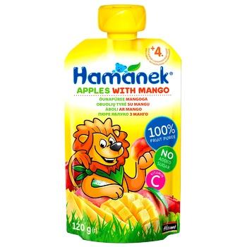Hamanek Apple-Mango Puree 120g - buy, prices for CityMarket - photo 1