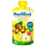 Пюре Hamanek груша с бананом 120г