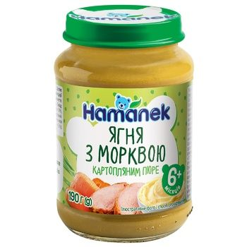 Hamanek Lamb Puree with Carrots and Mashed Potatoes 190g - buy, prices for CityMarket - photo 1
