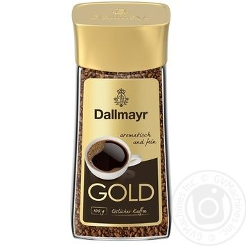 Dallmayr Gold instant coffee 100g - buy, prices for MegaMarket - image 1
