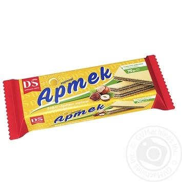 Вафли Домашне свято Артек с вкусом ореха 70г