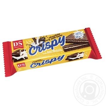 Вафли Домашне свято Crispy вкус молока и шоколада 72г