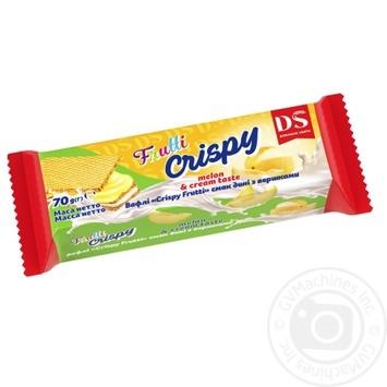 Вафли Домашне свято Crispy Frutti Дыня со сливками 70г