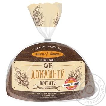 Хлеб Киевхлеб Домашний ржаной половина нарезка 450г - купить, цены на Novus - фото 3