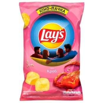 Lay's Crab Flavored Potato Chips 200g - buy, prices for CityMarket - photo 1