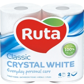Ruta Crystal Toilet Paper White 4pcs - buy, prices for MegaMarket - image 1