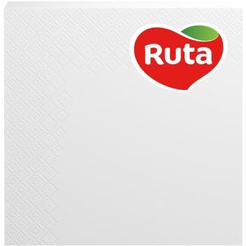 Napkins Ruta Color white paper 3-ply 33*33cm 20pcs - buy, prices for EKO Market - photo 1