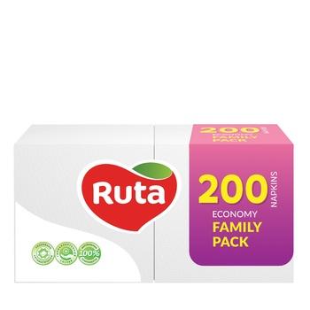 Салфетки Рута Дуо белые 200шт - купить, цены на Novus - фото 1