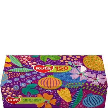 Салфетки Рута Косметические сменный блок 150л - купить, цены на Метро - фото 1