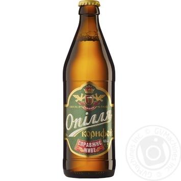 Пиво Опілля Корифей живе світле 3.7% 0,5л - купити, ціни на Фуршет - фото 2