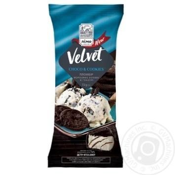 Мороженое Лимо Velvet шоколадное печенье 72г - купить, цены на Novus - фото 1
