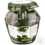 La Cerignola Black olives baked in oil 314ml
