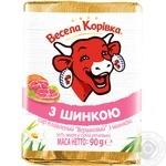 Сыр плавленый Веселая Коровка Cливочный с ветчиной 50% 90г - купить, цены на Фуршет - фото 1