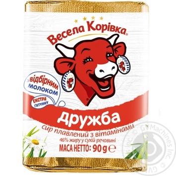 Сир Весела Корівка Дружба плавлений 50% 90г - купити, ціни на Фуршет - фото 1