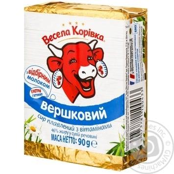 Сыр плавленый Весёлая Коровка Сливочный с витаминами 46% 90г - купить, цены на Novus - фото 4