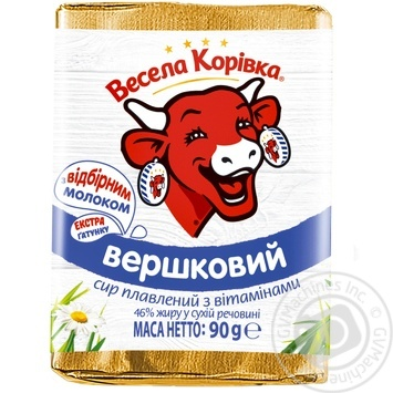 Сир Весела Корівка вершковий плавлений 46% 90г - купити, ціни на Ашан - фото 6