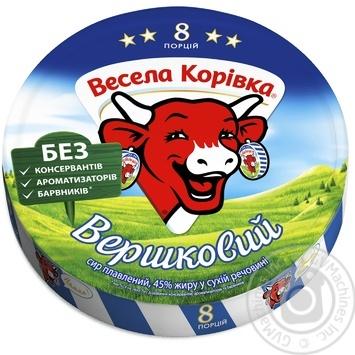 Сыр Веселая Коровка сливочный плавленый 8 порций 45% 140г - купить, цены на Ашан - фото 3
