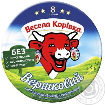 Сыр Веселая Коровка сливочный плавленый 8 порций 45% 140г - купить, цены на Ашан - фото 5