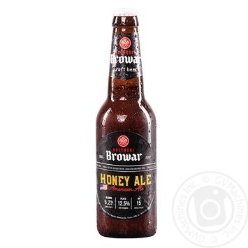 Скидка на Пиво Волынский Бровар Honey Ale American Ale светлое нефильтрованное 5,2% 0,35л