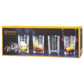 Nachtmann Square Glass for Whiskey 345ml 4pcs