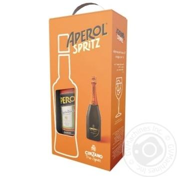 Лікер Aperol Aperitivo 0,7л + Вино ігристе Cinzano Pro-Spritz біле сухе 0,75л - купити, ціни на Novus - фото 1