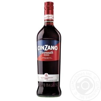 Вермут Cinzano Rosso червоний десертний 15% 1л - купити, ціни на Novus - фото 1