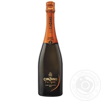Вино игристое Cinzano Pro-Spritz Spumante Bianco Etra Dry белое сухое 11,5% 0,75л - купить, цены на МегаМаркет - фото 1