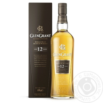 Glen Grant Whiskey 12y.o. 43% 0,7l  in a gift box - buy, prices for Auchan - photo 1