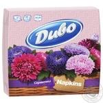 Салфетки Диво 2 слоя розовые 33х33см 50шт