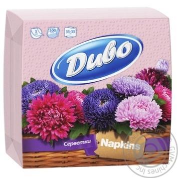 Серветки Диво Рожеві 33х33см 100шт - купити, ціни на МегаМаркет - фото 1