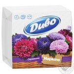 Napkins Dyvo white paper for serving 100pcs packaged