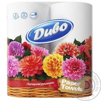 Полотенце бумажное Диво двухслойное 2шт Украина - купить, цены на Фуршет - фото 1