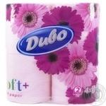 Бумага туалетная Диво Soft розовая 2 слоя 4шт