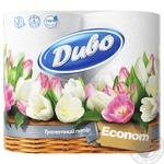Туалетная бумага Диво Эконом белая двухслойная 4шт Украина