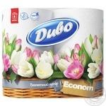 Toilet paper Divo Econom white 2 ply 4pcs Ukraine